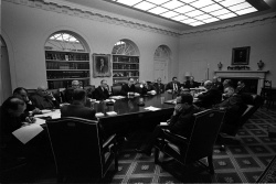 President Lyndon B. Johnson meets with Vietnam advisors (The Wise Men)