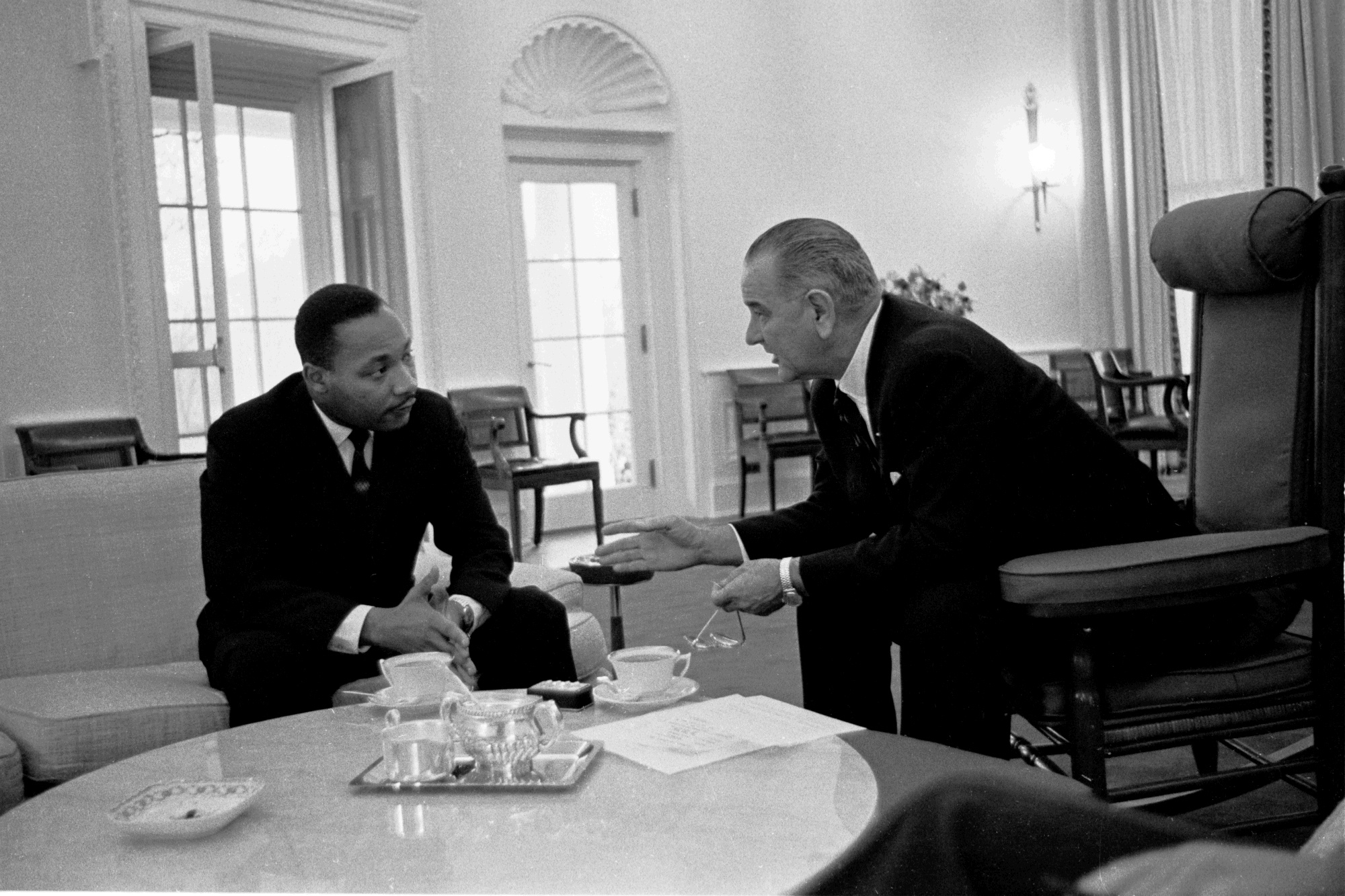 Martin Luther King Jr. and President Johnson