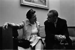 President Lyndon B. Johnson meets with Judge Sarah Hughes