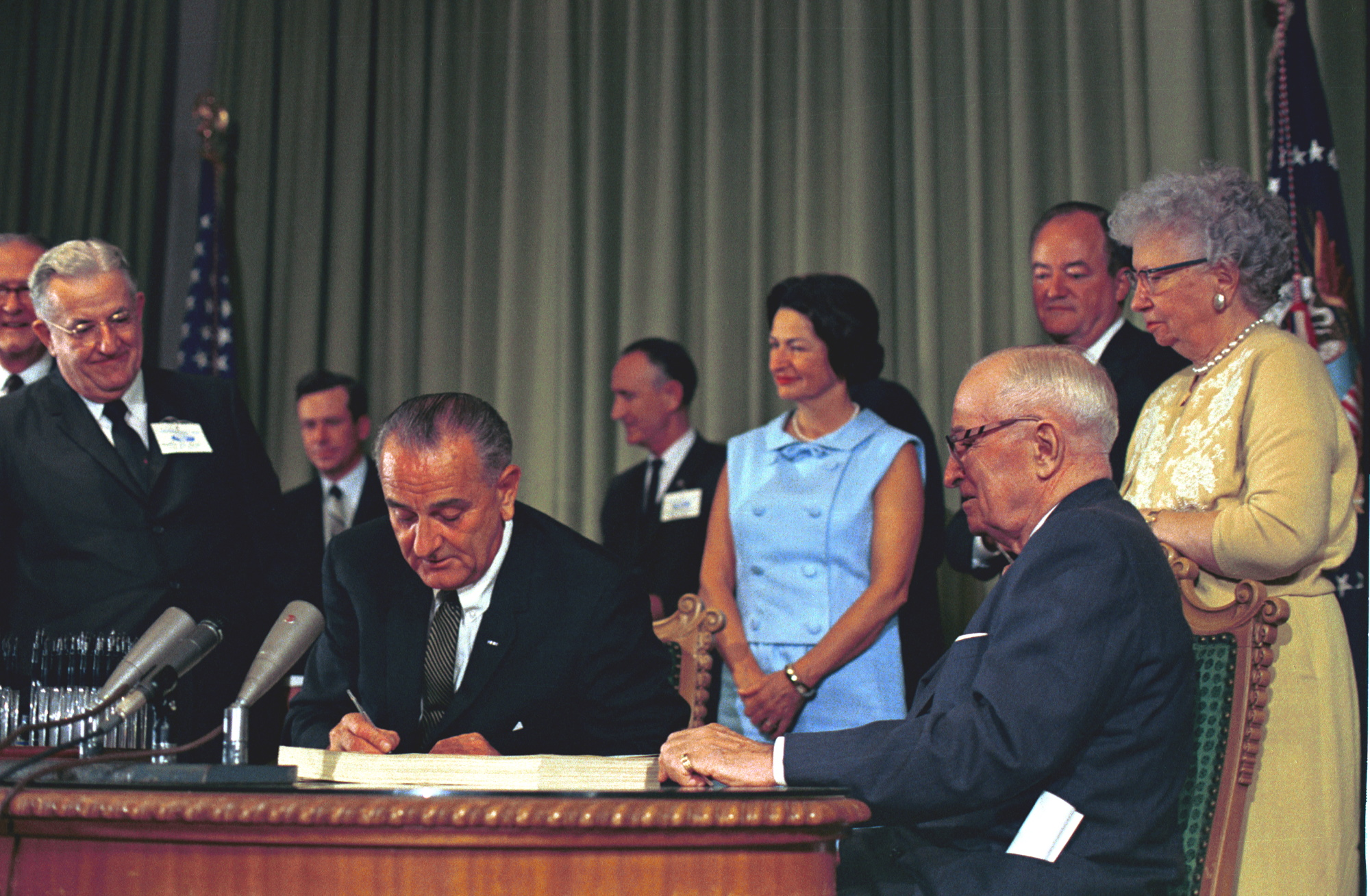 Image result for PRESIDENT JOHNSON SIGNED MEDICARE INTO LAW