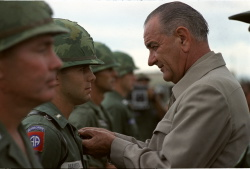 President Lyndon B. Johnson's visit to Cam Ranh Bay, South Vietnam