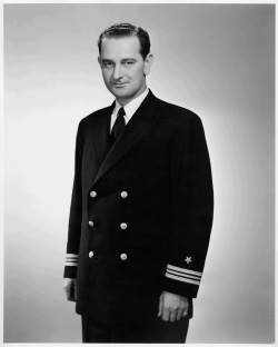 Portrait of Lyndon B. Johnson in Navy Uniform