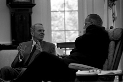 Clark Clifford, Pres. Lyndon B. Johnson in conversation