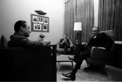 Conversation between Stewart Alsop and Pres. Lyndon B. Johnson