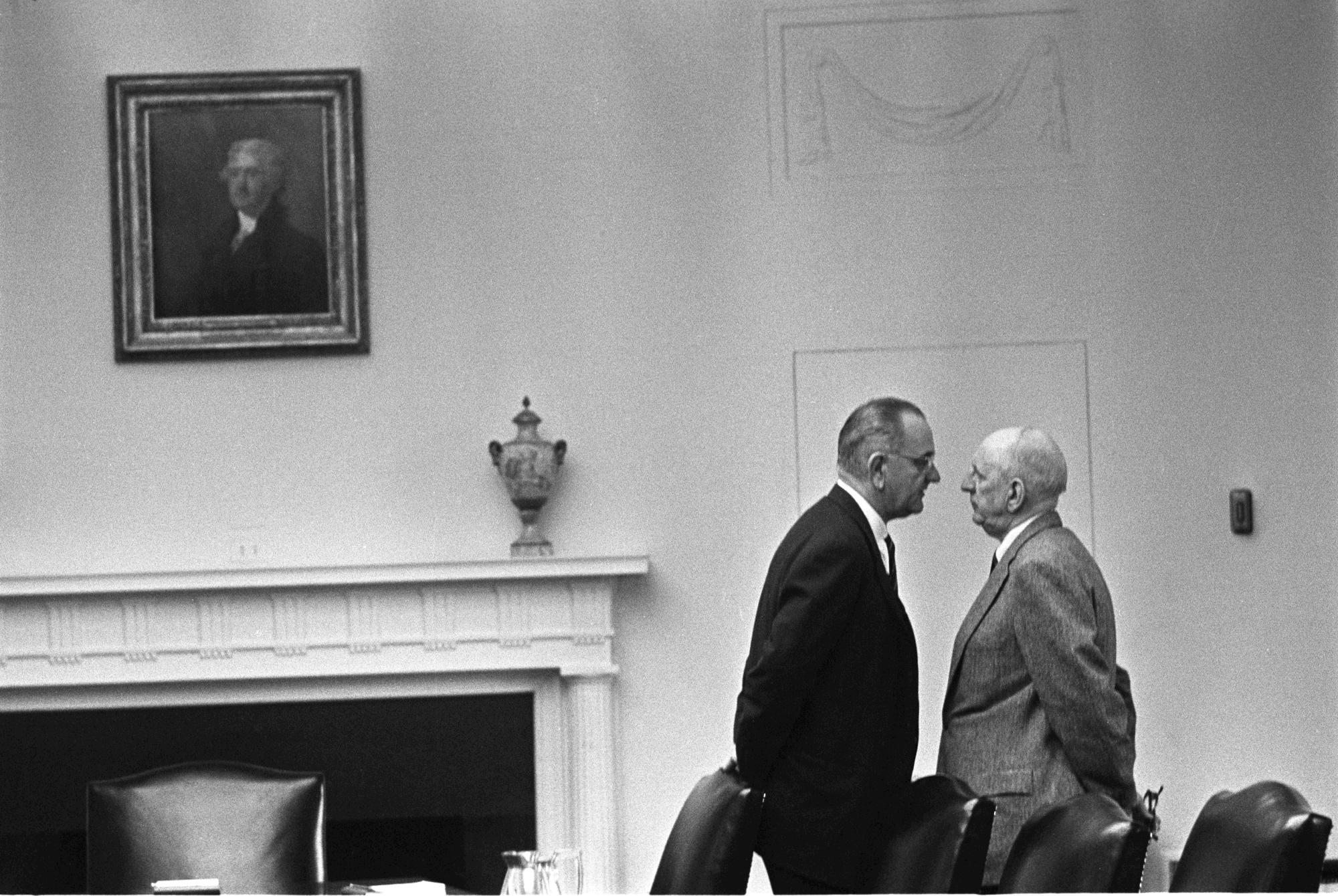 President Johnson and Senator Richard Russell
