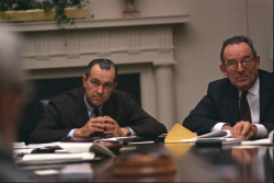 CIA Director Richard Helms and Amb. Walworth Barbour at meeting in the Cabinet Room
